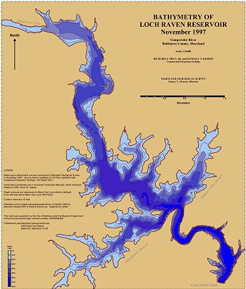 Loch Raven Bathymetric Map