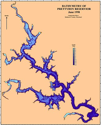 Prettyboy Resevoir Bathymetric Map