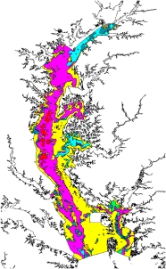 Chesapeak Bay Sediment Distribution Map
